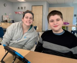 Children with autism at The New England Center for Children